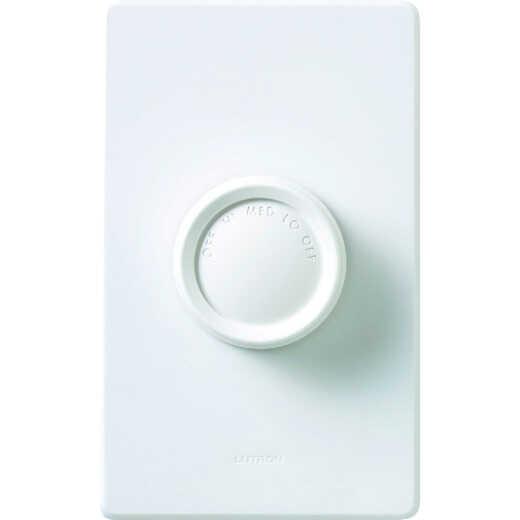 Lutron Ivory/White 3-Speed Single-Pole Rotary Fan Control Switch