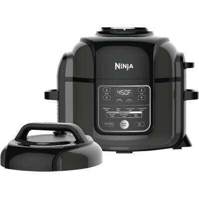 Ninja Foodi 6.5 Qt. Black Stainless Electric Pressure Cooker with Tender Crisp Technology