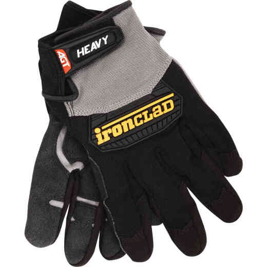 Ironclad Heavy Utility Men'sLarge Synthetic Leather High Performance Glove