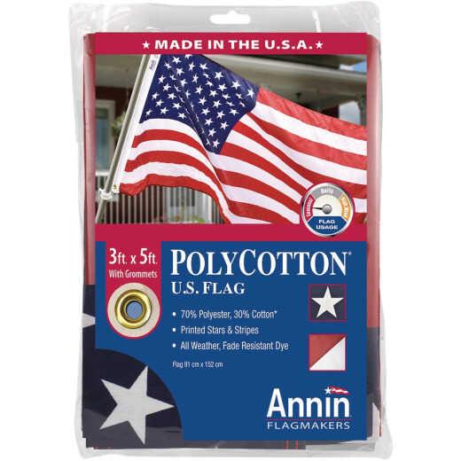 Annin 3 Ft. x 5 Ft. Polycotton American Flag